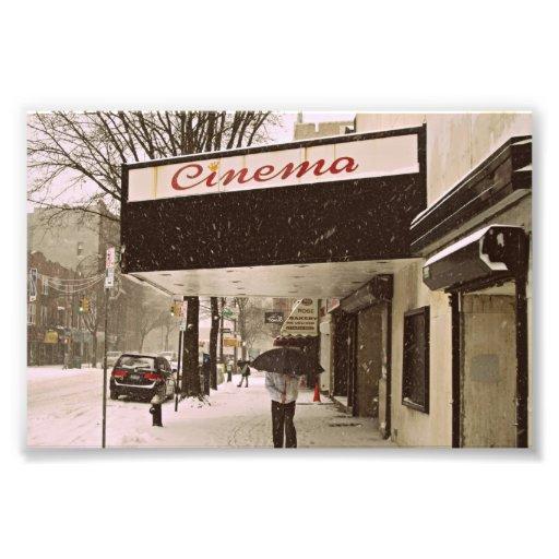 Schnee-Tag am Kino