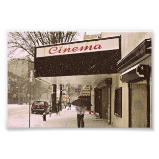 Schnee-Tag am Kino Kunst Photo