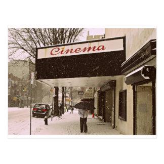 Schnee-Tag am Kino Postkarte