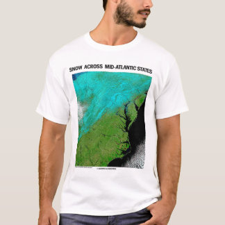 Schnee über Mittler-Atlantischen Staaten T-Shirt
