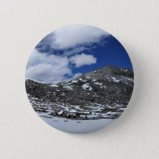 Schnee umfaßter Donahue Durchlauf - John Muir-Spur Runder Button 5,7 Cm