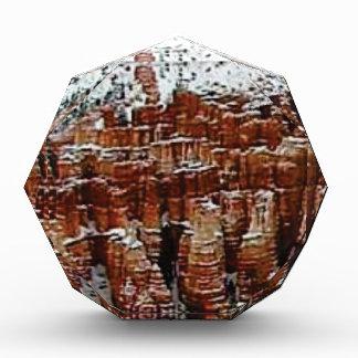 Schnee und Eis in Felsen formationsf Acryl Auszeichnung