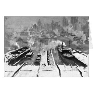 Schnee von Brooklyn Heights 1922 Grußkarte