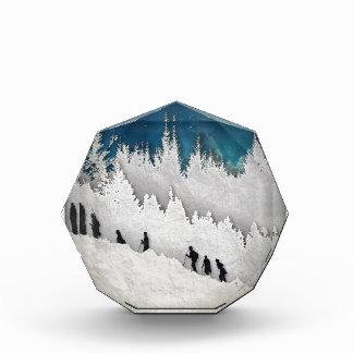 Schnee-Wanderung II Acryl Auszeichnung