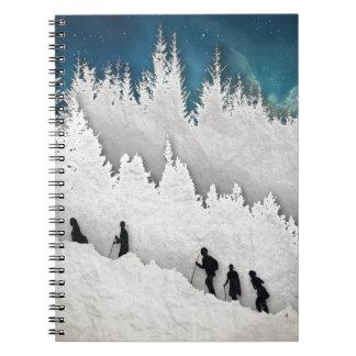 Schnee-Wanderung II Notizblock