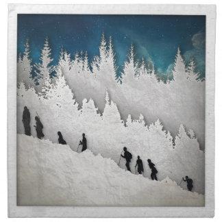 Schnee-Wanderung II Stoffserviette