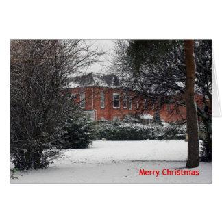"""""""Schnee-"""" Weihnachtskarte Karte"""