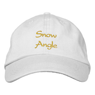 Schnee-Winkel-Kappe/Hut Bestickte Baseballkappen