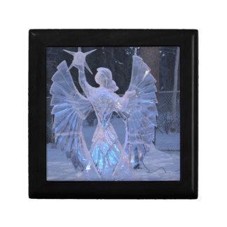 Schnee-Winter-Skulpturengel Christentums-Glaube Erinnerungskiste
