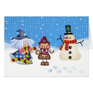 Schnee-Zeit-Spaß am Weihnachten Karte