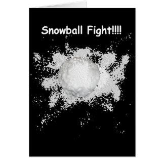 Schneeball-Kampf-Weihnachtskarte Karte