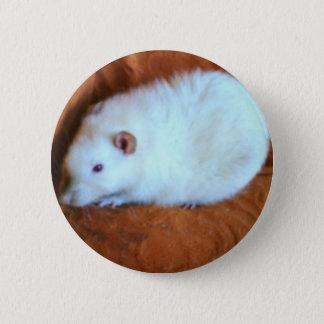 Schneeball-weißer Ratten-Knopf Runder Button 5,1 Cm
