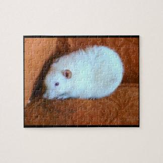 Schneeball-weißes Ratten-Puzzlespiel Puzzle