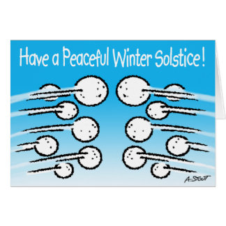 Schneeball-Winter-Sonnenwende Grußkarte