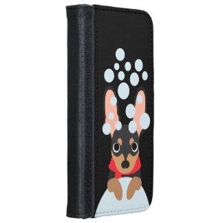 Schneeball-Zwergpinscher-Hund Geldbeutel Hülle Für Das iPhone 6/6s