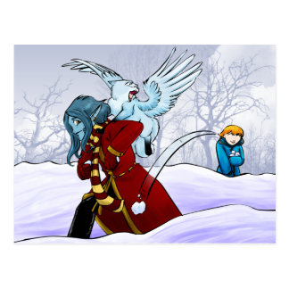 Schneebälle! Postkarte