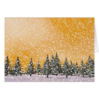 Schneebedeckte Landschaft des Winters Grußkarte