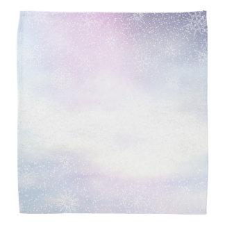 Schneebedeckter Hintergrund des Winters Tages- 3D Halstuch