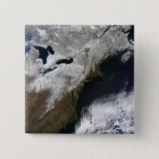 Schneedecke, die von Kanada ausdehnen Quadratischer Button 5,1 Cm