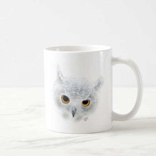 Schneeeule Kaffeetasse