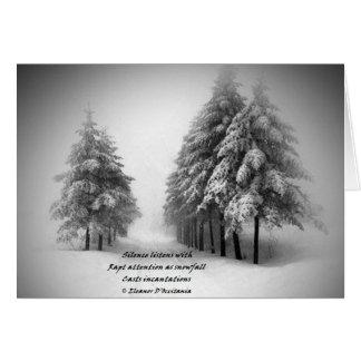 Schneefall-Beschwörungs-Poesie-Gruß-Karte mit ENV Karte