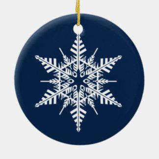 Schneefall-runde Schneeflocke-Verzierung Rundes Keramik Ornament