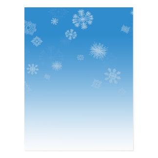 Schneefälle Postkarte