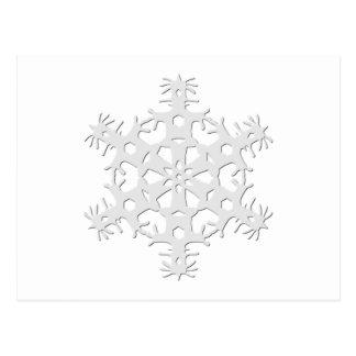 Schneeflocke 1 postkarte