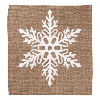 Schneeflocke auf Leinwand-Land-Art-Weihnachten Kopftuch
