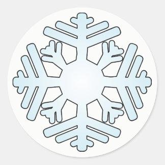 Schneeflocke-Aufkleber Runder Aufkleber