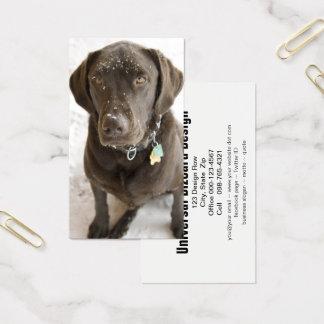 Schneeflocke besprühte Schokolade Labrador Visitenkarte