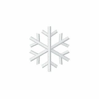 Schneeflocke Bestickte Fleece Track Jacke