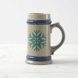 Schneeflocke Bierglas