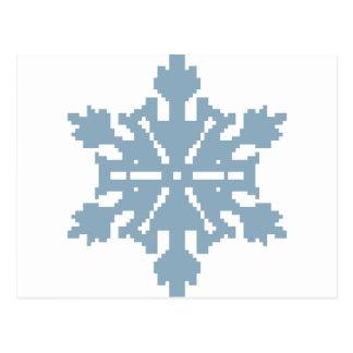 Schneeflocke - Blau Postkarte