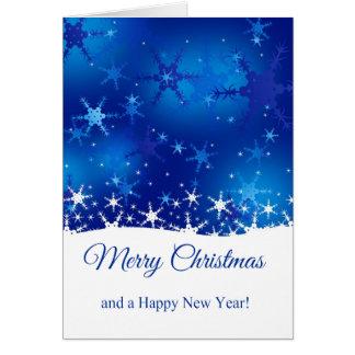 Schneeflocke-blaue frohe Weihnachten - Gruß-Karte Karte