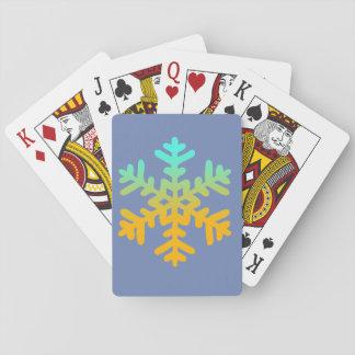 Schneeflocke-blaue klassische Spielkarten