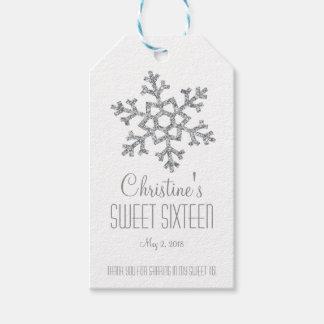 Schneeflocke-Bonbon 16 Geschenk-Umbauten der Geschenkanhänger