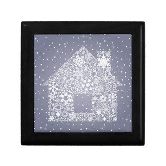 Schneeflocke das Haus Erinnerungskiste