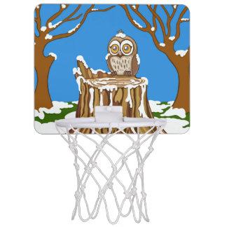 Schneeflocke die Eule Mini Basketball Netz