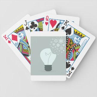 Schneeflocke ein bulb2 bicycle spielkarten