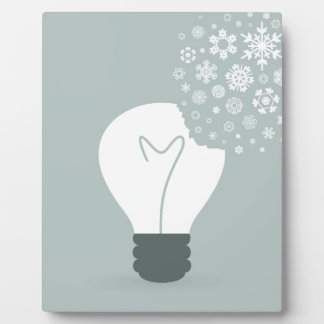 Schneeflocke ein bulb2 fotoplatte