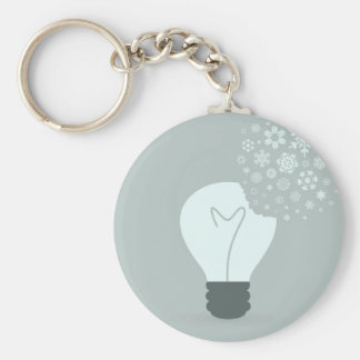 Schneeflocke ein bulb2 schlüsselanhänger