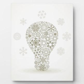 Schneeflocke eine Birne Fotoplatte