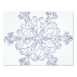 Schneeflocke 10,8 X 14 Cm Einladungskarte