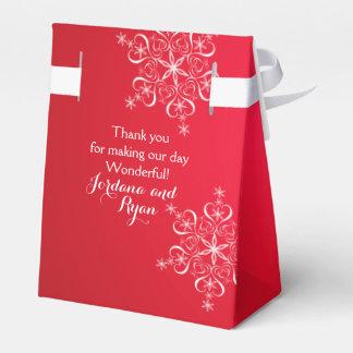 Schneeflocke-Eleganz-Rot 2 Geschenkkarton