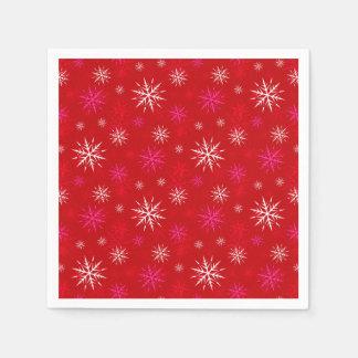 Schneeflocke-Entwurfs-Weihnachtspapierserviette Papierservietten