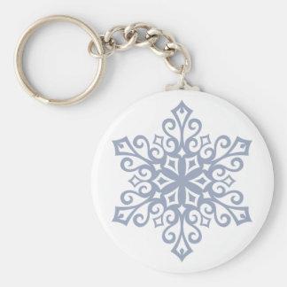 Schneeflocke-Entwurfs-Winter Schlüsselanhänger