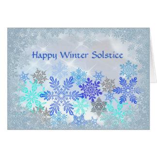 Schneeflocke-Entwurfs-Winter-Sonnenwende-Karte Grußkarte