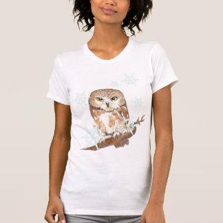 Schneeflocke-Eulen-Shirt T-Shirt