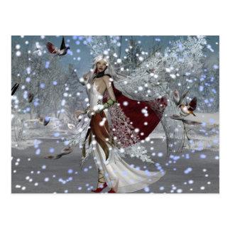 Schneeflocke-Fee Postkarte